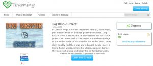 Teaming voor Dog Rescue Greece