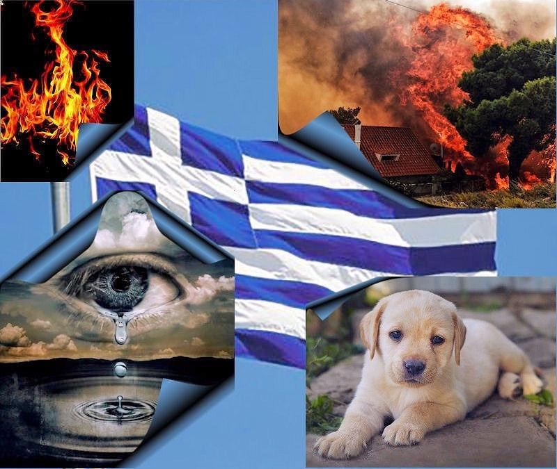 Nieuws hulpacties - branden in Griekenland